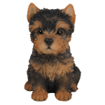 Small Image of Pet Pals Yorkshire Terrier Puppy - Resin Garden Ornament
