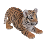 Small Image of Vivid Playful Tiger Cub - Resin Garden Ornament