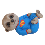 Small Image of Baby Meerkat Laying - Resin Garden Ornament