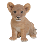 Small Image of Sitting Lion Cub - Resin Garden Ornament