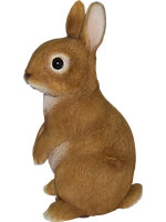 Small Image of Vivid Standing Young Rabbit Lifelike Resin Garden Ornament