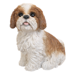 Small Image of Shih Tzu Brown Sitting - Resin Garden Ornament