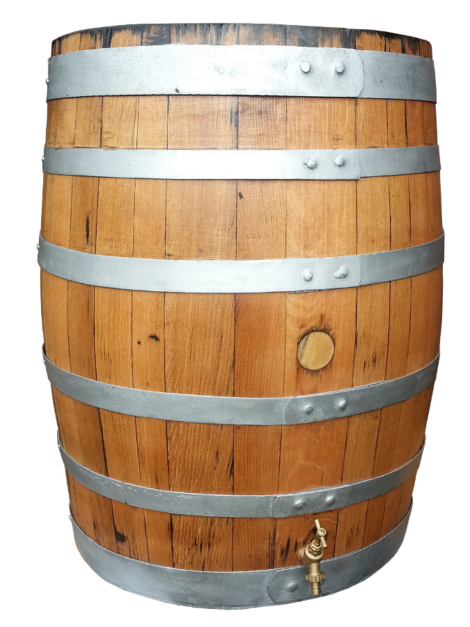 refurbished oak barrel wooden water butt 250ltr 159. Black Bedroom Furniture Sets. Home Design Ideas