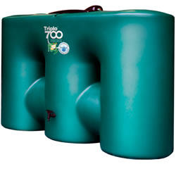 Small Image of 700 Litre Rainwater Harvester - Triplo 700 Green
