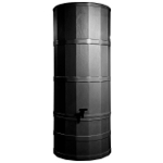 Small Image of Black Poly Water Butt - 220 Ltr