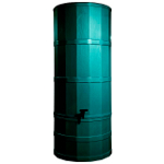 Small Image of Green Poly Water Butt - 200 Ltr