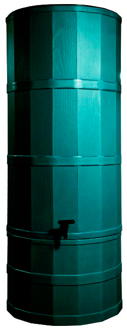 Image of Green Poly Water Butt - 220 Ltr