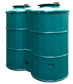 Small Image of 1500 Litre Rainwater Harvester - Prestige 1500 Green
