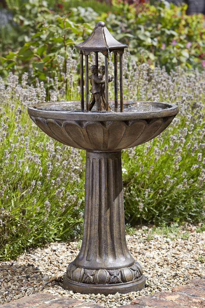 dancing-couple-fountain Wiring Basket on