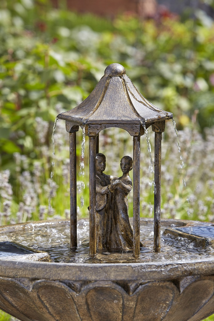 Extra image of Solar Powered Water Feature - Dancing Couple