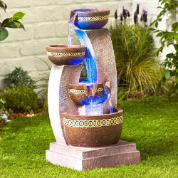 Small Image of Azure Columns Easy Fountain Garden Water Feature
