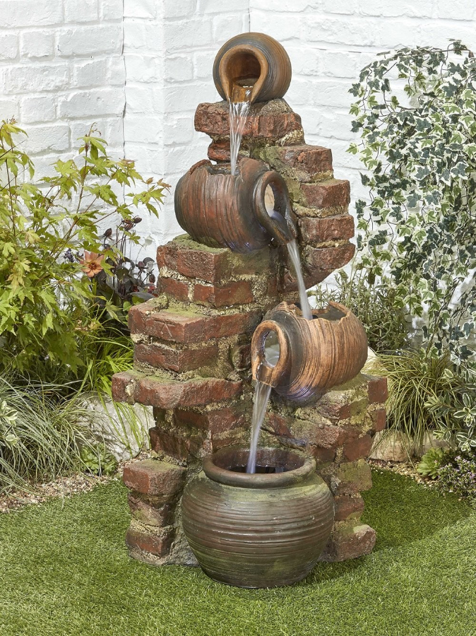 Flowing Jugs Easy Fountain Garden Water Feature 163 299 99
