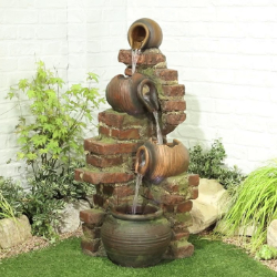 Small Image of Flowing Jugs Easy Fountain Garden Water Feature