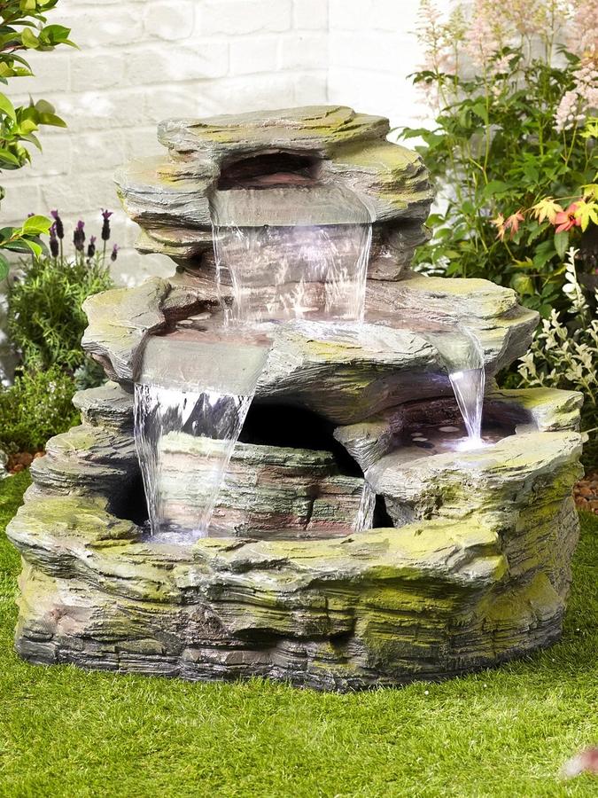 Garda Falls Easy Fountain Garden Water Feature - £354.99 ...