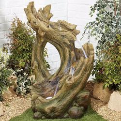 Small Image of Knotted Willow Falls Easy Fountain Garden Water Feature