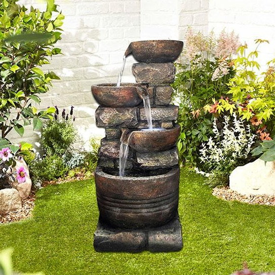Simple Water Features For The Garden: Roman Spills Easy Fountain Garden Water Feature