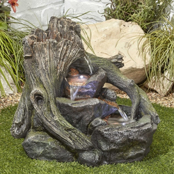 Small Image of Woodland Twist Easy Fountain Garden Water Feature