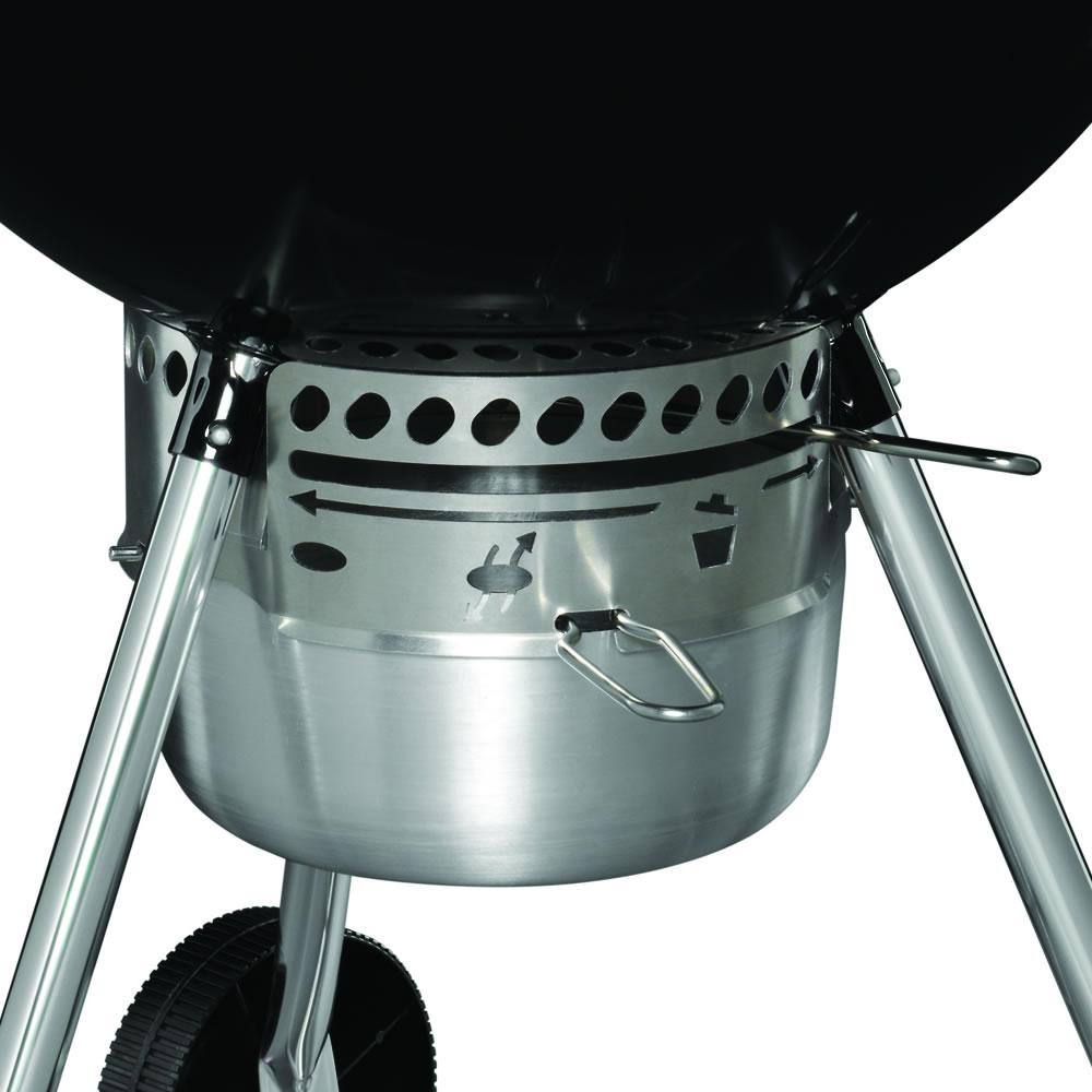 weber original kettle premium barbecue 57cm black at garden4less uk. Black Bedroom Furniture Sets. Home Design Ideas