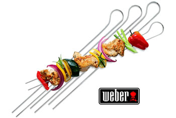 Image of Weber Double Prong Barbeque Skewers