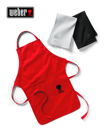 Image of Weber Apron and Towel Set - Red