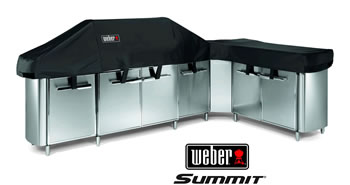 Image of Weber Summit Grill Centre with Social Area Premium Cover