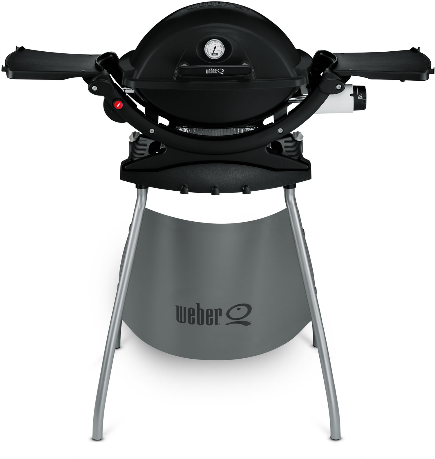 weber q120 black line bbq with stand at. Black Bedroom Furniture Sets. Home Design Ideas