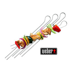 Small Image of Weber Double Prong Barbeque Skewers