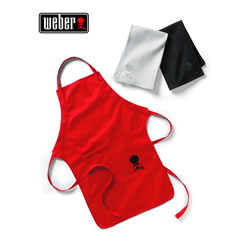 Small Image of Weber Apron and Towel Set - Red