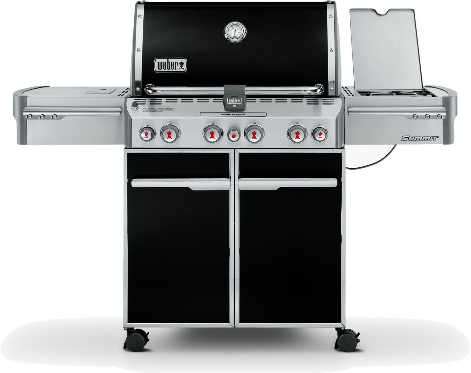 Weber summit e470 gas bbq with gourmet system 2050 - Weber housse barbecue ...
