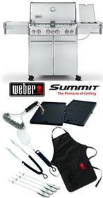 Weber Summit S470 Stainless Steel Gas BBQ Ultimate Grill Pack