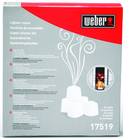 Weber Lighter Cubes Firelighters 17519 Garden4Less UK Shop