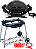 Weber Q140 Electric BBQ with Rolling Cart