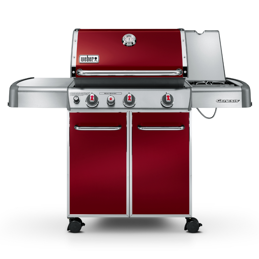 weber genesis e330 barbecue crimson 1099 garden4less uk shop. Black Bedroom Furniture Sets. Home Design Ideas