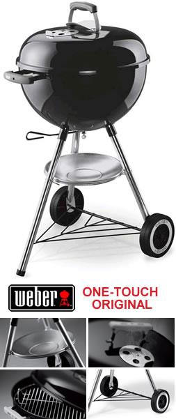 weber one touch original bbq 47cm garden4less uk. Black Bedroom Furniture Sets. Home Design Ideas