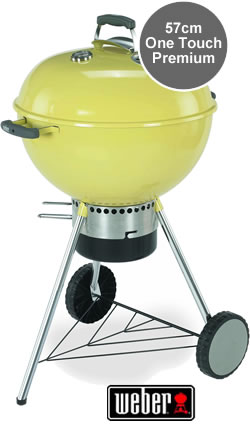 Weber one touch premium charcoal bbq for Barbecue weber one touch premium