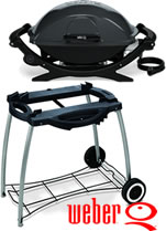 Weber Q240 Electric BBQ with Rolling Cart