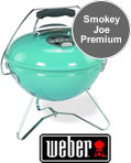 Weber Smokey Joe Premium Portable BBQ in Blue Wave