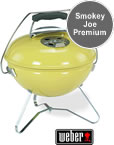 Weber Smokey Joe Premium Portable BBQ in Lemongrass