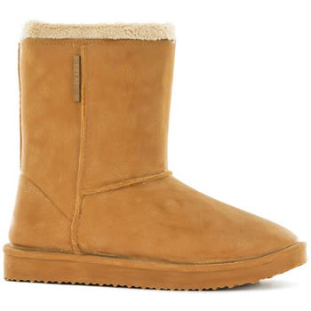 Image of Blackfox Cheyenne Sheepskin Style Waterproof Wellies - Caramel