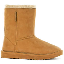 Small Image of Blackfox Cheyenne Sheepskin Style Waterproof Wellies - Caramel