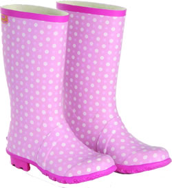 Image of Briers Kids Pink Ice Wellies UK 13
