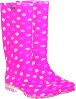 Image of Briers Dotty Pink Wellies UK 5