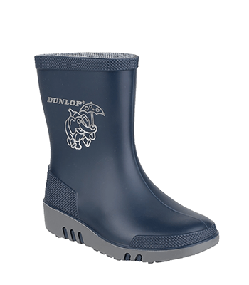 Image of Dunlop Mini Elephant Wellington in Blue