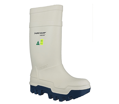 Image of Dunlop Thermo Plus Safety Wellington Boot in White - UK 6.5