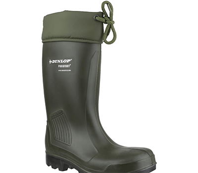 Image of Dunlop Thermoflex Safety Wellington Boot in Green
