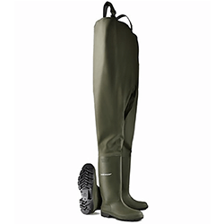 Small Image of Dunlop Protomaster Chest Waders in Green
