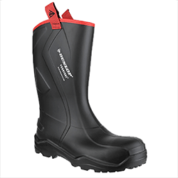 Small Image of Dunlop Purofort Rugged Full Safety Wellington Boot in Black