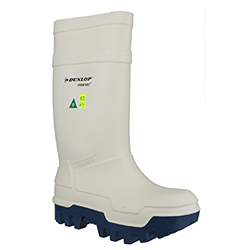 Small Image of Dunlop Thermo Plus Safety Wellington Boot in White - UK 6.5