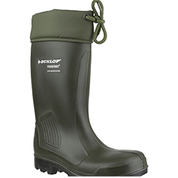 Small Image of Dunlop Thermoflex Safety Wellington Boot in Green