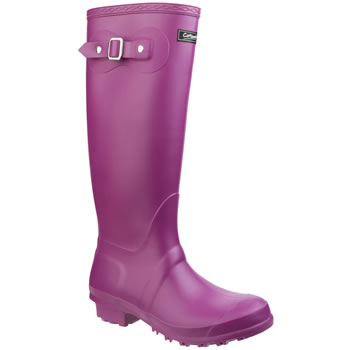 Image of Womens Cotswold Sandringham Wellington Boots - Berry